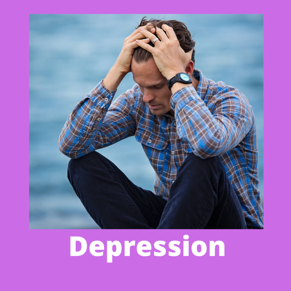 a button to access more information on the hypnotherapy store's depression package