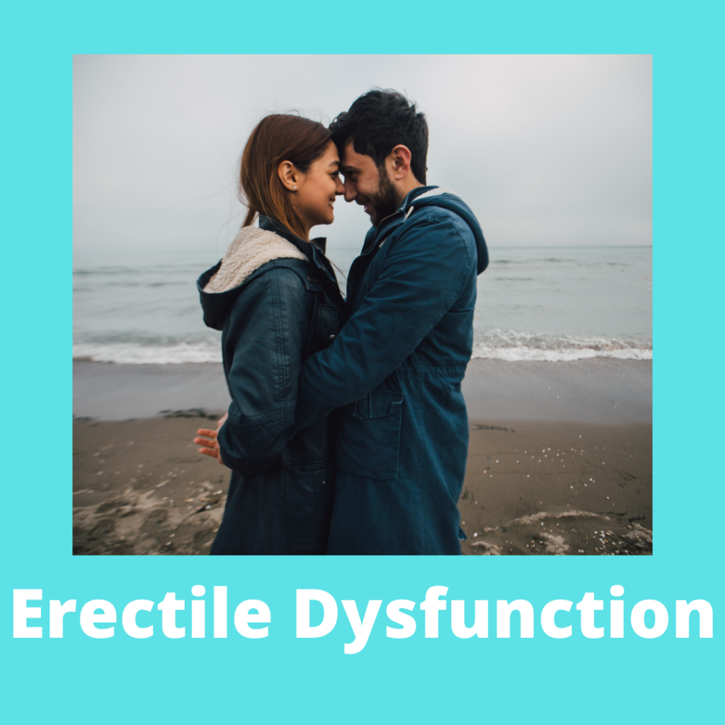 A button for accessing more information on the hypnotherapy store's erectile dysfunction products
