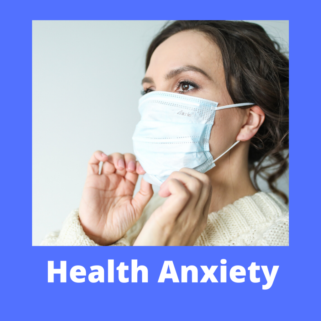A button for accessing more information on the hypnotherapy store's health anxiety products